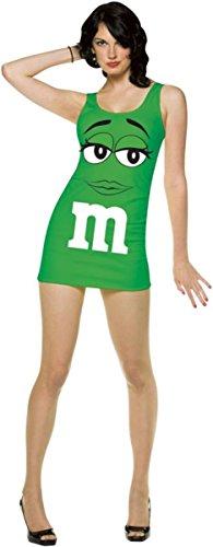 [Rasta Imposta M&M Tank Dress Green Adlt 6-10] (Homemade Cotton Candy Halloween Costumes)