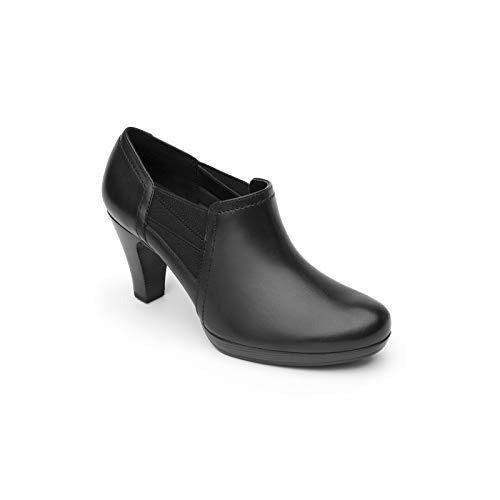 Flexi Mitzy Women's Genuine Cow Leather Elastic Heel Shoe | 34309 (6.5, Black)