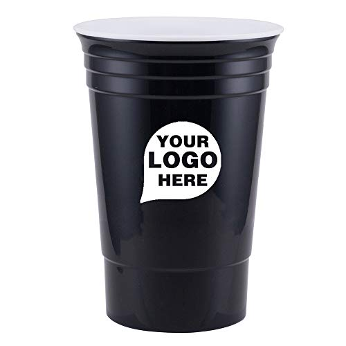 CloseoutPromo Bold - 16 oz. Double Wall Cup - 100 Quantity - $1.85 Each - Promotional Product/Bulk with Your Logo/Customized