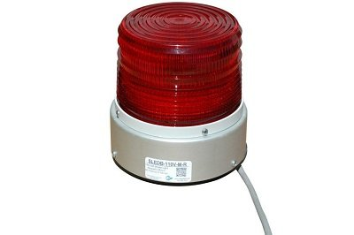 Magnetic Mount 110 Volt Strobe Light - 88 Flashes per Minute - 360 Degree Illumination(-Red)