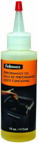 Fellowes Powershred Performance Shredder Oil, 16 oz. Extended Nozzle Bottle (3525010)