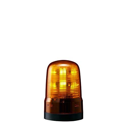 パトライト 回転灯 SF08-M1KTN-Y Φ80 DC12~24V 発光パターン(22種) 黄色 2点穴式取付 プッシュイン端子台