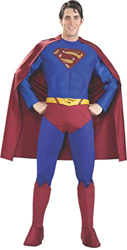 Rubie's Supreme Edition Muscle Chest Superman, Blue/Red, Medium Costume