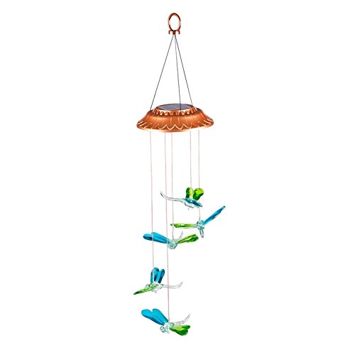 Evergreen Color Changing Dragonflies Solar Mobile