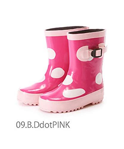 Kids Rubber rain Boots 21cm 09.B.DdotPINK NOBRAND no Brand Japan