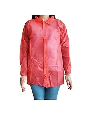 f6847e27c Protección desechable. Cierre con velcros y cuello tipo camisa. Color rojo   Amazon.