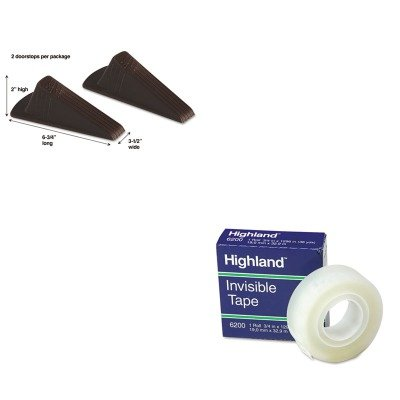 KITMAS00969MMM6200341296 - Value Kit - Master Caster Giant Foot Doorstop (MAS00969) and Highland Invisible Permanent Mending Tape (MMM6200341296) by Master Caster