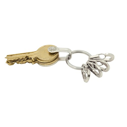 True Utility Key Ring System with 5 Key Shackle