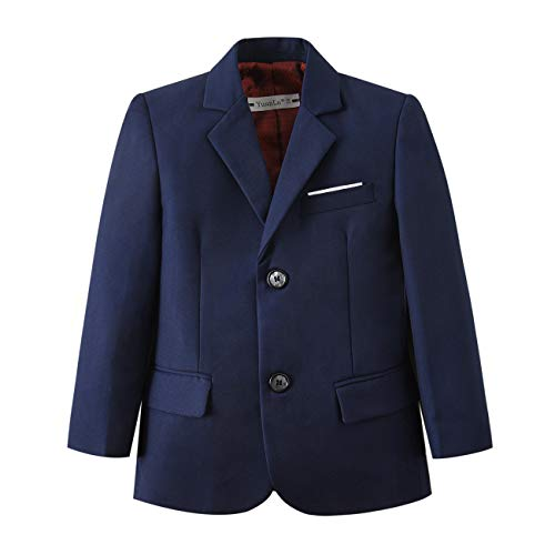 - YuanLu Toddlers Boys Blazer Sport Coat for Kids Navy Blue Size 2T