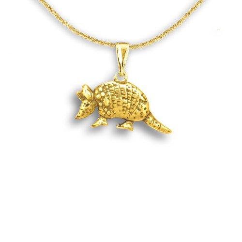 14k Gold Armadillo Pendant by The Magic Zoo (Armadillo Costume)