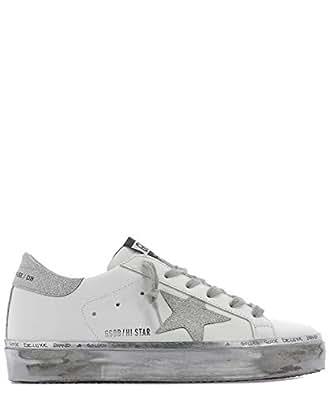 GOLDEN GOOSE G34WS945F3 Mujer Blanco Cuero Zapatillas: Amazon.es: Zapatos y complementos