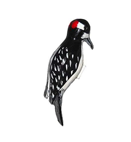 Amazon Com Downy Woodpecker Carved Clip On Christmas Ornament Handmade