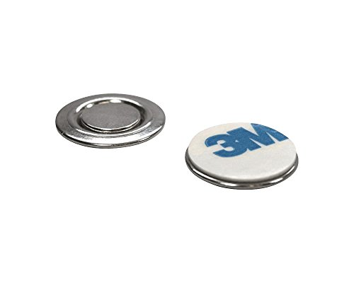 (totalElement Small Round Magnetic Fastener/ID Badge, Lapel Pin, Brooch Holder with Adhesive (10 Pack))