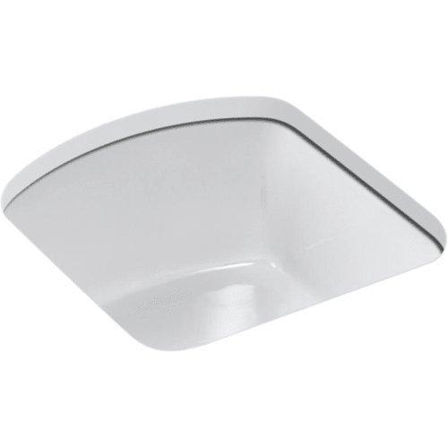 KOHLER K-5848-0 Napa Under-Mount bar Sink with No Faucet Holes White (Mount Faucet Bar)