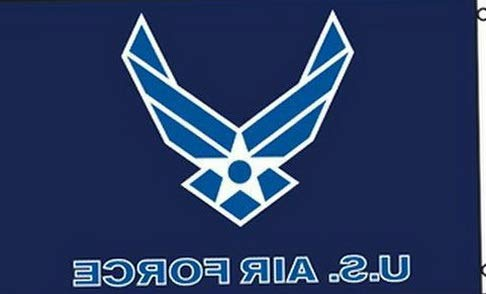 (Hebel US Air Force Flag Wings Logo 3x5 ft US White on Blue Veteran Active | Model FLG - 1862)