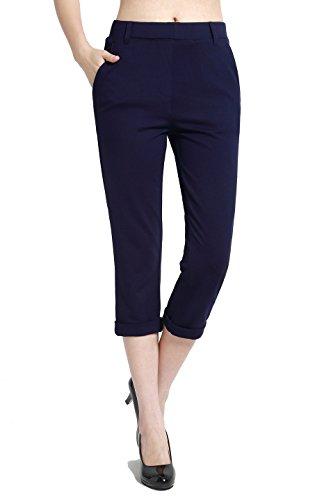 Navy Blue Capri Pants - 6