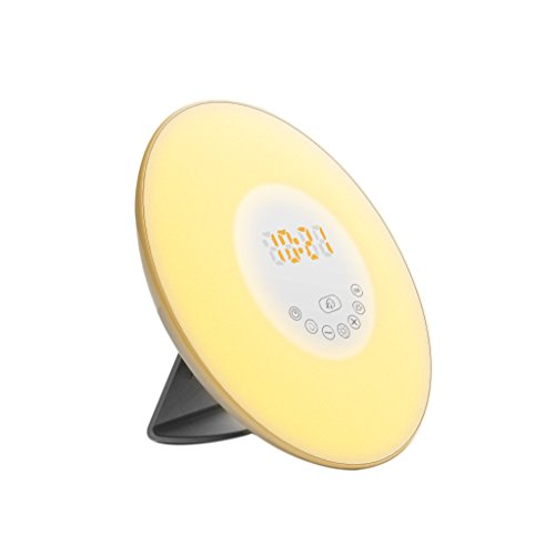 Wake Up Light, ETTG Wake Up Light Alarm Clock with Sunrise Simulation with Nature or FM Radio Sounds Touch Control