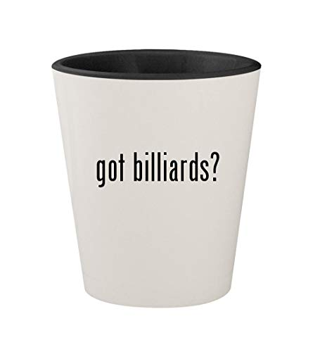 got billiards? - Ceramic White Outer & Black Inner 1.5oz Shot Glass
