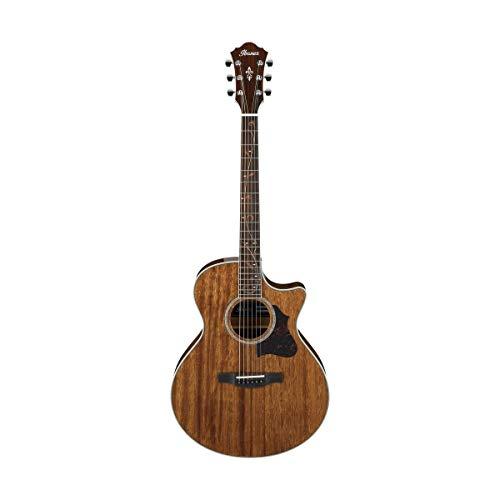 Ibanez AE Series AE245NT Semi-Acoustic Guitar, Solid Mahogany Top, Mahogany Back and Sides, 20 Frets, Mahogany Neck, Rosewood Fretboard, Natural