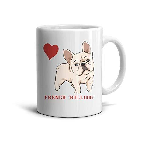 LOUTRTDF Cute French Bulldog Art Mans and Womens 11oz Coffee Mugs Ceramic Mom Cup -