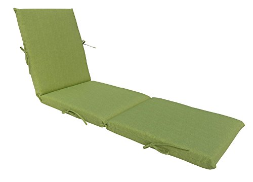 - Bossima Indoor/Outdoor Green/Grey Piebald Chaise Lounge Cushion,Spring/Summer Seasonal Replacement Cushions.