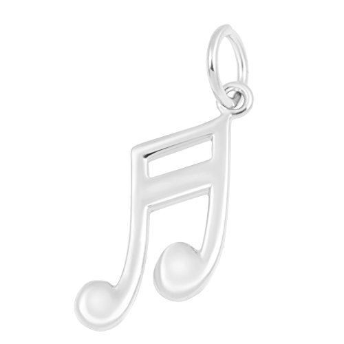 (Necklace & Bracelet Charms – Music Themed Sterling Silver Fine Jewelry by Silver on the Rocks)
