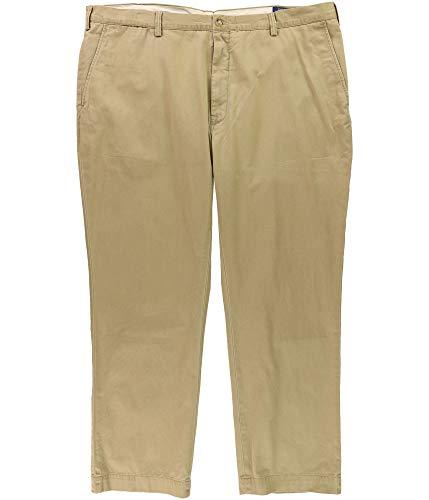 Polo Ralph Lauren Mens Big & Tall Twill Classic Fit Khaki Pants Tan 42/36 ()