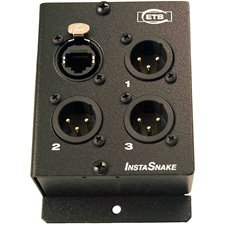 ETS PA205F InstaSnake 3-Channel XLR Female CAT5 Audio Balun by ETS