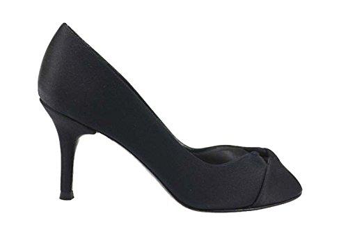 scarpe donna STUART WEITZMAN decoltè nero raso AP256