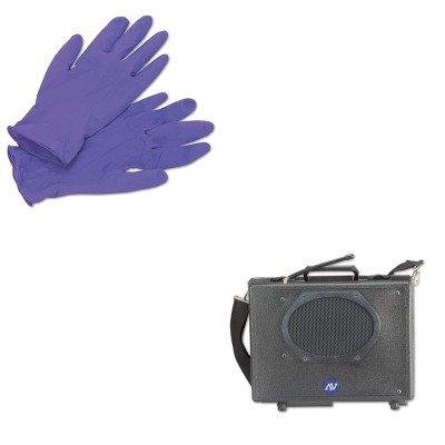 KITAPLSW222KIM55082 - Value Kit - Amplivox Wireless Audio Portable Buddy Professional Group Broadcast PA System (APLSW222) and KIMBERLY CLARK PURPLE NITRILE Exam Gloves (Wireless Buddy Pa System)