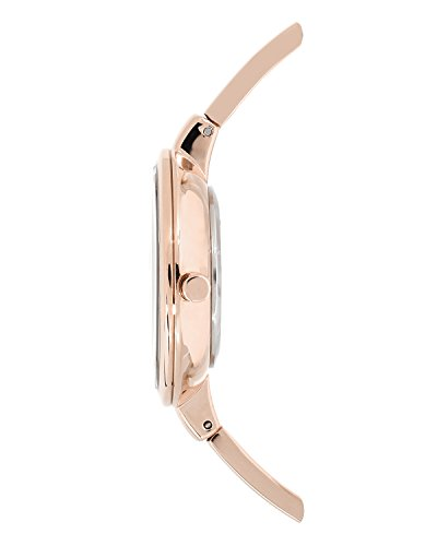 Anne klein women 39 s ak 1470rgst rose gold tone bangle watch and import it all for Anne klein rose gold watch set