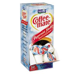 Coffee-mate Peppermint Mocha Creamer, .375Oz, 50/Box