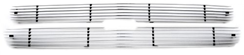 TRex Grilles 21075 Horizontal Aluminum Polished Finish Billet Grille Overlay for Chevrolet Suburban Tahoe Silverado
