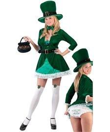 [Luscious Leprechaun Adult Costume - Medium/Large] (Womens Lucky Leprechaun Costume)
