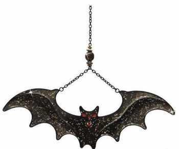 sawley fine arts Black Bat Acrylic Window Light Sun Catcher Wicca Halloween Witch]()