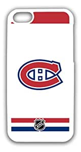 White Road Uniform NHL Hocky Montreal Canadians Apple Candy Case - iPhone 5C Hard Plastic Case Cover