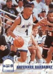 - 1993 Hoops Basketball Rookie Card (1993-94) #380 Anfernee Hardaway Near Mint/Mint