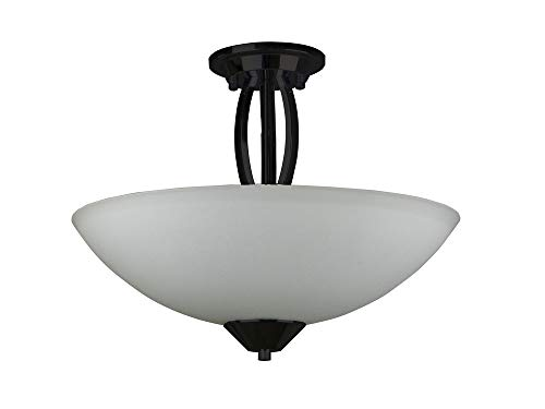 Whitfield Lighting SF179-16OS Anna - Three Light Semi Flush Mount, Old Silver Finish with White Glass