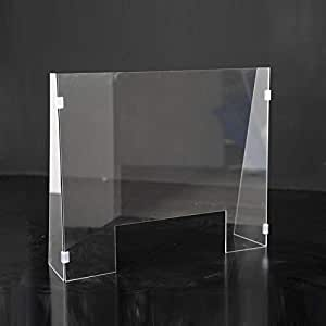 Mampara de protección automontable 60x50cm con laterales con pinza: Amazon.es: Oficina y papelería