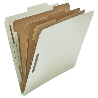 UNV10292 Pressboard Classification Folder, Letter, Eight-Section, Gray, 10/Box