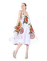 21a1aa63a0 Village Venture Vestidos De Mujer con Estampado Floral Sexy Túnica Casual  Sin Manga Unitalla 1566