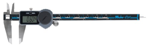 "Brown & Sharpe 00590094 Twin-Cal IP40 Digital Caliper, 0 to 8"" Range, 0.0005"" Resolution, Square Depth Rod, Wireless Data Port, Black/Grey/Teal"