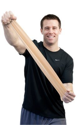 FEI 10-6310 Sup-R Latex Free Exercise Band Roll, XX-Light, 6 yd. Length, Tan