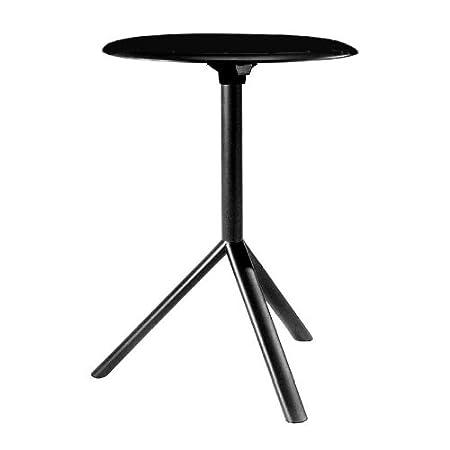 Plank Miura - Mesa auxiliar negro / Ø60cm/mate/tablero de mesa ...