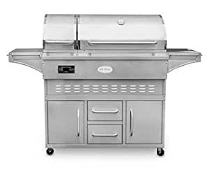 Louisiana Grills Wood Pellet Grill and Smoker with Cart, Estate Series 860C