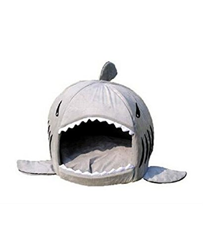[Grey Shark Bed for Small Cat Dog Cave Bed Removable Cushion,waterproof Bottom Most Lovely Pet House Gift for] (Zebra Cat Costume)