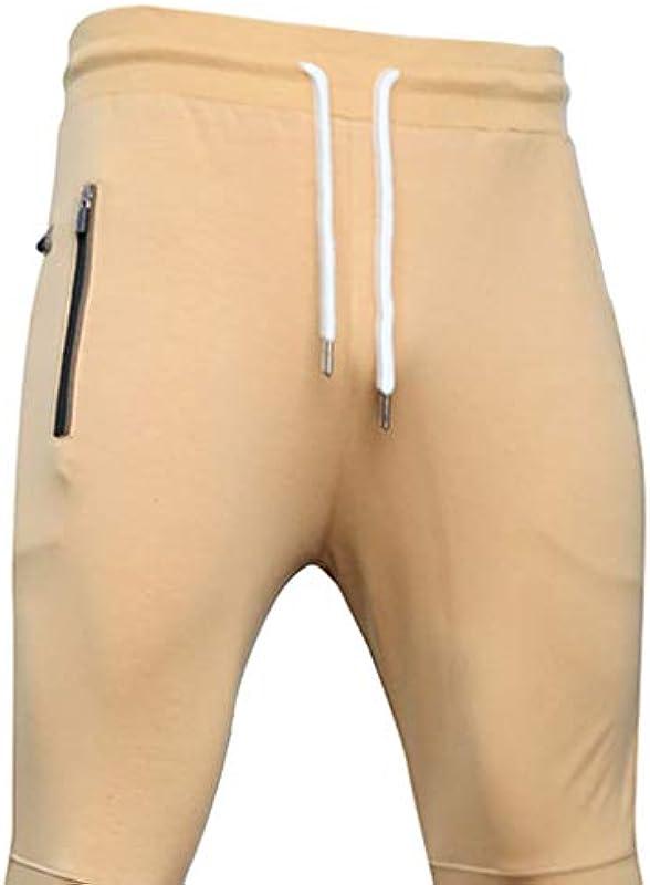 Xshuai RTE Mens Outdoor Sport Fitness długie spodnie Slim Fit spodnie do spędzania wolnego czasu w pełnej długości: Odzież