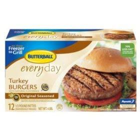 Butterball Turkey Burgers, Original Seasoned (12 ct.)