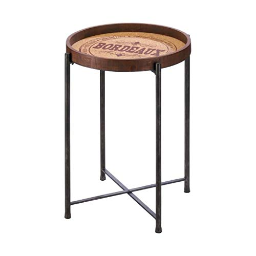 - Bedroom Furniture Accent Table Bordeaux Round Wood Side Table Accent Decor