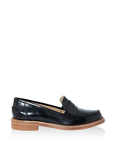 EYE 2142102_ABRASIVATO_NERO mocassino pelle DONNA